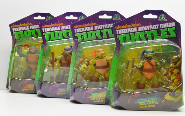Playmates (2013) TMNT Nickelodeon Set of 4 Action Figures