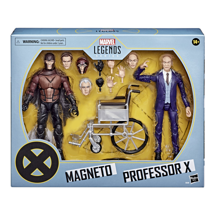 Hasbro Marvel Legends Series X-Men Magneto and Professor X 6-inch Collectible Action Figure Set