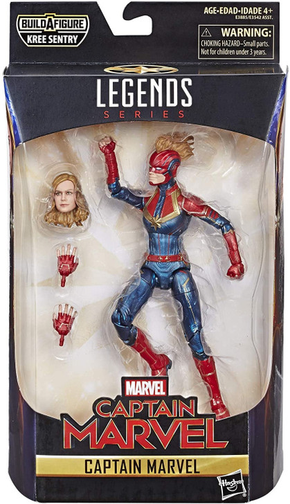 "Hasbro Marvel Legends Captain Marvel 6"" Action Figure"