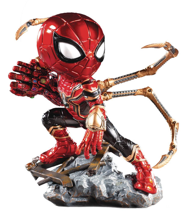 Iron Studios Minico Avengers End Game Iron Spider Vinyl Statue