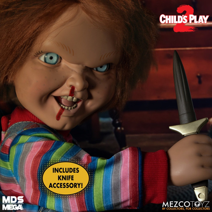 Mezco MDS Mega Scale Child's Play 2: Talking Menacing Chucky