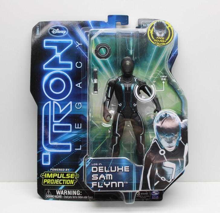 """Spin Master TRON Legacy 7"""" Deluxe Sam Flynn action figure"""