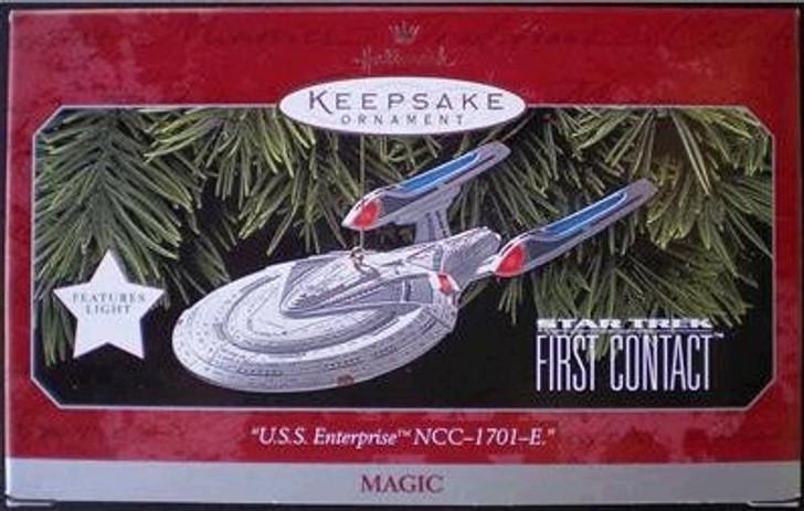 Hallmark Keepsake Magic Ornament Star Trek First Contact USS Enterprise NCC-1701-E - 1998