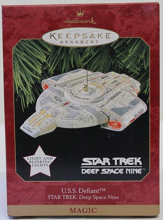 Hallmark Keepsake Magic Ornament Star Trek DS9 Defiant 1997