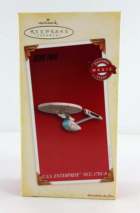 Hallmark Keepsake Magic Ornament Star Trek U.S.S. Enterprise NCC-1701-A 2005