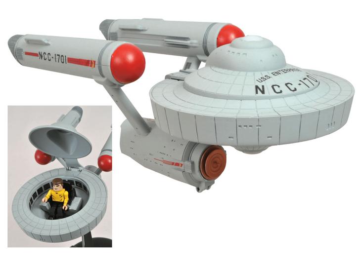 Diamond Select Star Trek Star Trek Enterprise Minimate Vehicle with Kirk Figure