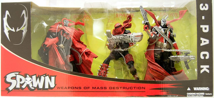 Mcfarlane Spawn ''Weapons of Mass Destruction'' Action Figure 3 Pack
