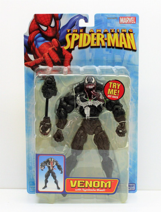 ToyBiz The Amazing Spider-Man Venom Symbiote Blast Action Figure