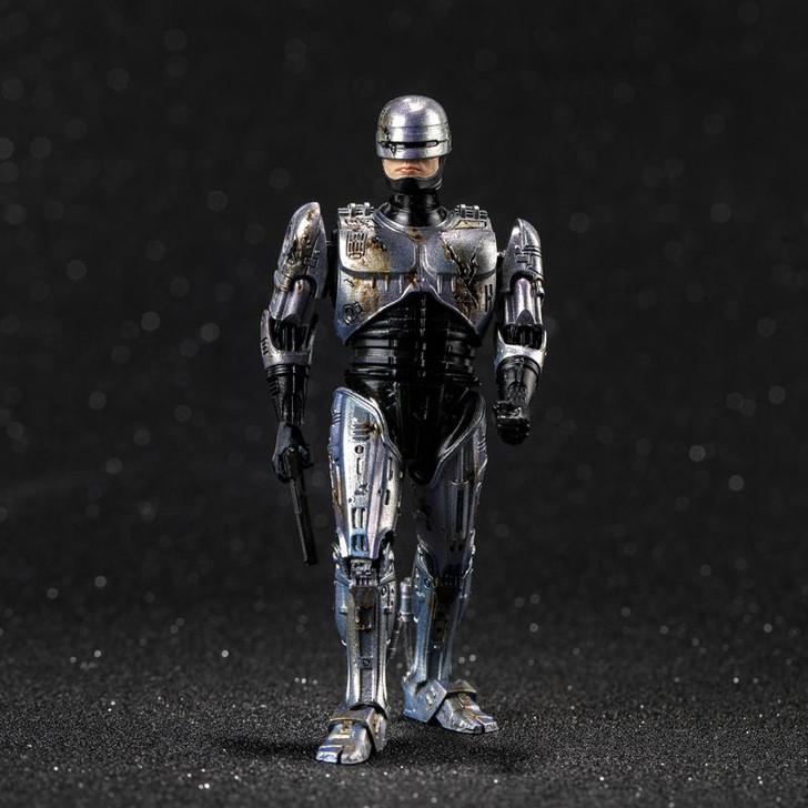 Hiya Toys ROBOCOP: Battle Damage ROBOCOP 1:18 Scale 4 Inch Acton Figure