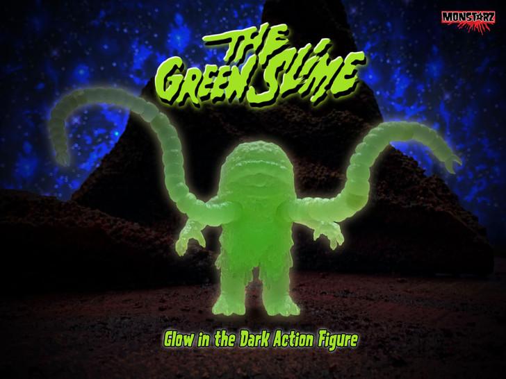Monstarz The Green Slime retro action figure Glow Exclusive