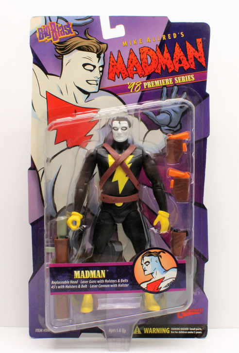 Graphitti Big Blast MADMAN (Black Costume) action figure