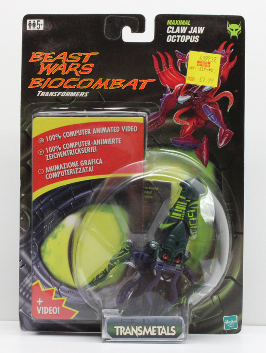 Hasbro Transformers Beast Wars Claw Jaw with video tape