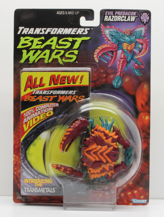 Hasbro Transformers Beast Wars Razorclaw with video tape