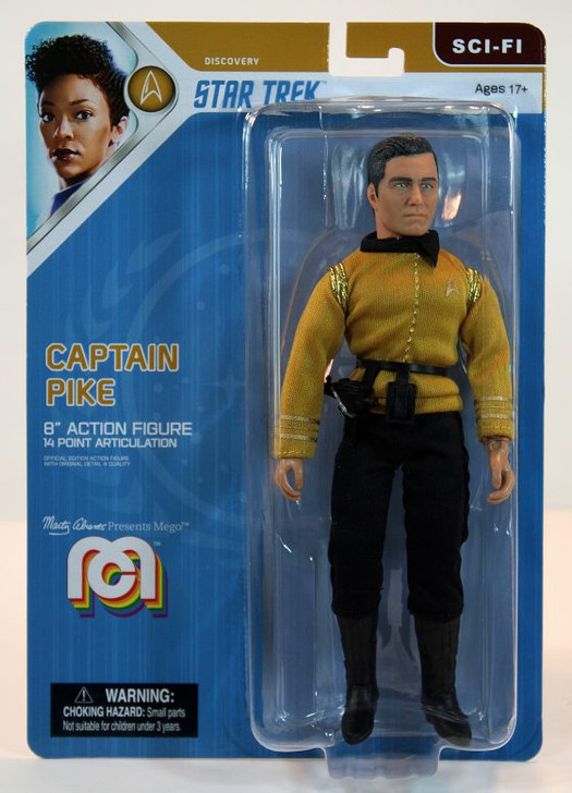 "Mego Action Figure 8"" Star Trek Captain Pike"