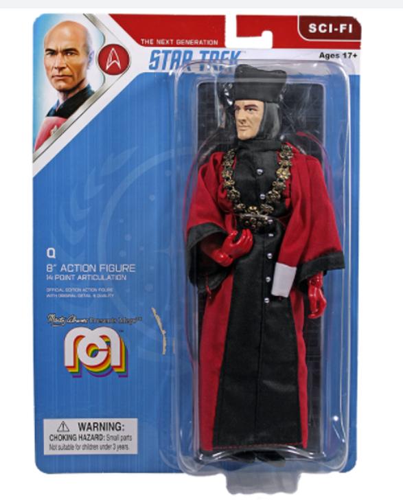 "Mego Action Figure 8"" Star Trek TNG ""Q"""