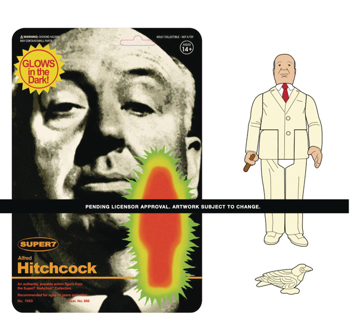 Super7 Alfred Hitchcock GLOW ReAction Figure