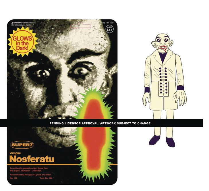 Super7 Nosferatu GLOW ReAction Figure