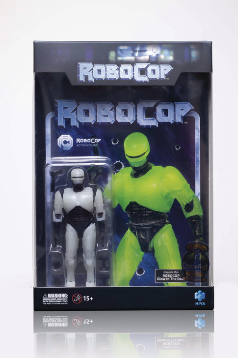 Hiya Toys ROBOCOP: GLOW ROBOCOP 1:18 Scale 4 Inch Acton Figure
