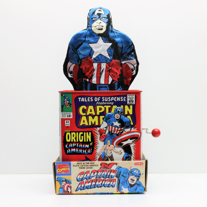 Schylling Captain America Tin Jack in the Box