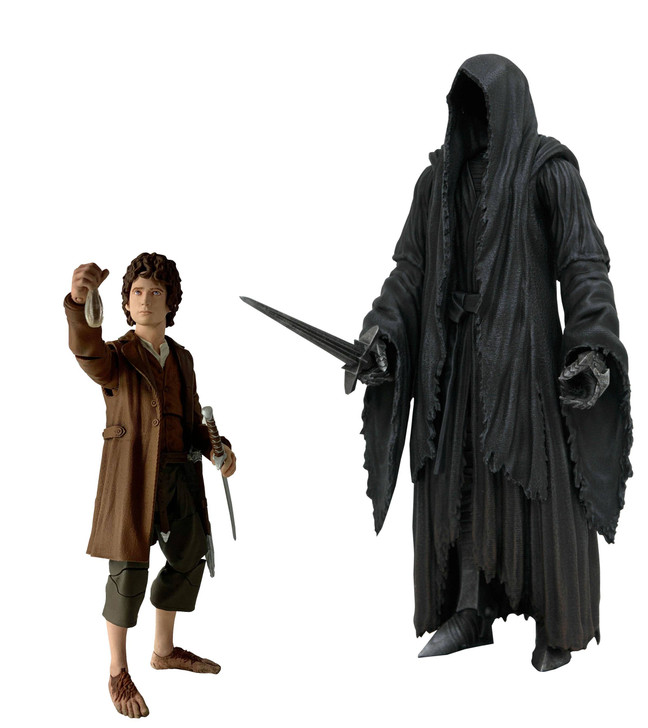 Diamond Select Lord of the Rings Frodo and Ringwraith Action Figure set