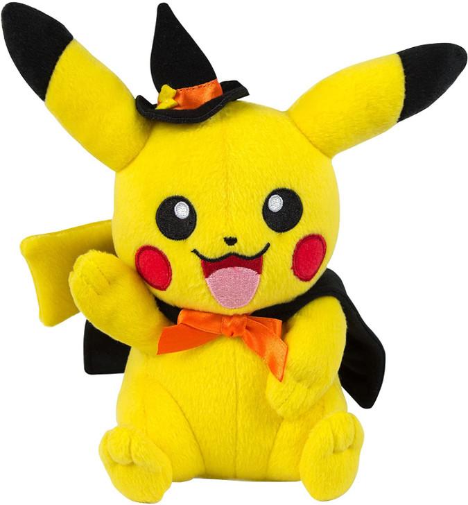 TOMY Pokémon  Pikachu Plush with Halloween Witch Hat