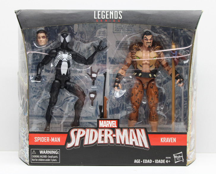 Hasbro Marvel Legends Spider-Man Kraven Action Figure 2 pack