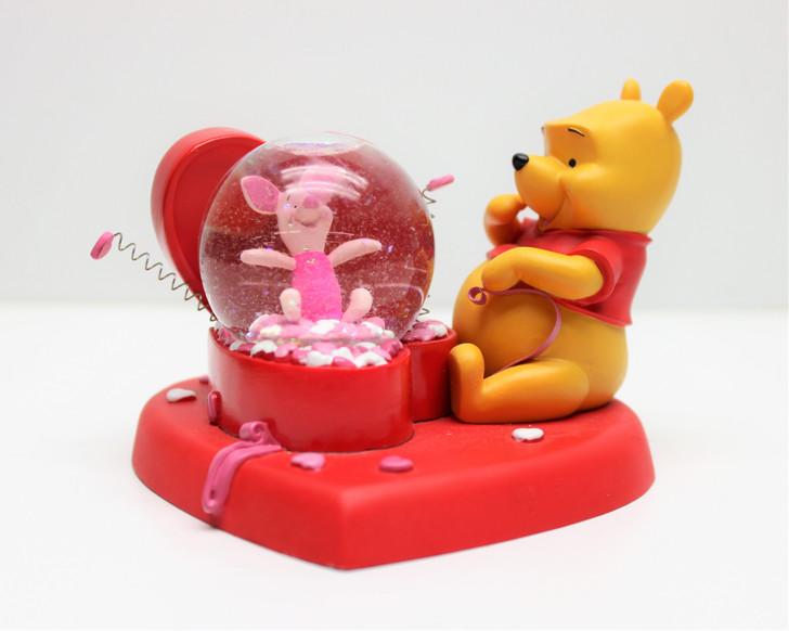 Disney Winnie the Pooh and Piglet Valentines Snowglobe