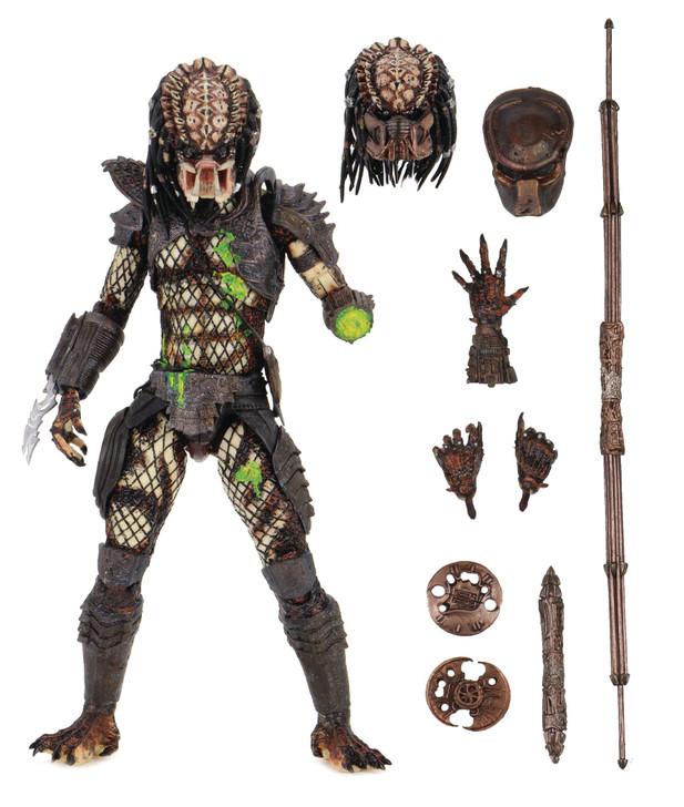 "NECA Predator 2 - 7"" Scale Action Figure - Ultimate Battle Damaged City Hunter Predator"