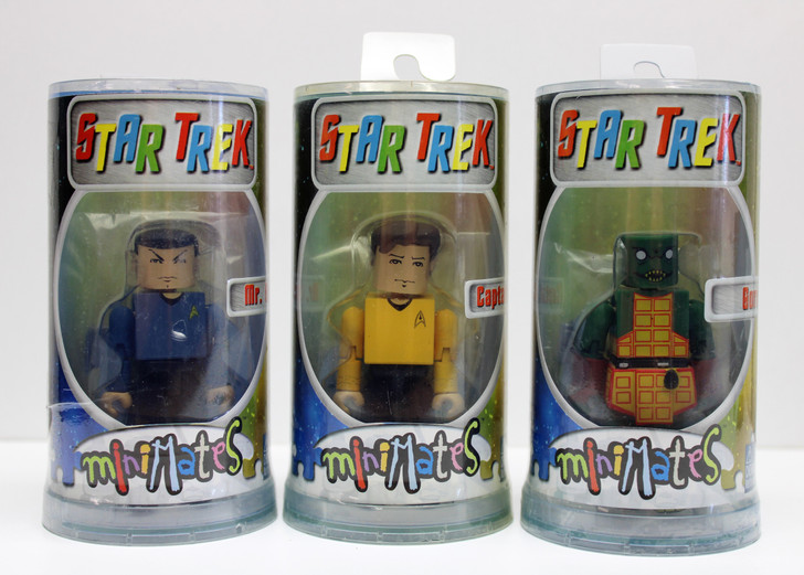 Art Asylum Star Trek Minimates Action Figure Kirk Spock Gorn lot of 3