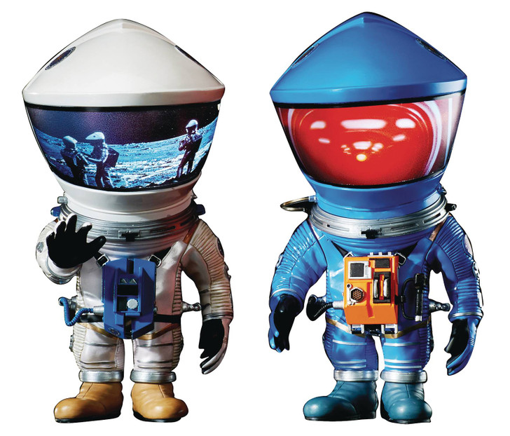 Star Ace 2001 A SPACE ODYSSEY Blue and Silver Astronaut Defo-Real 2 pack