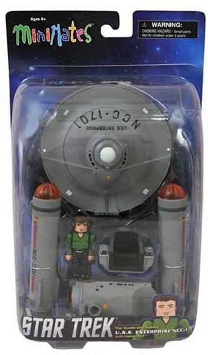 Diamond Select Star Trek The trouble with Tribbles Minimate Enterprise Vehicle with Kirk Figure