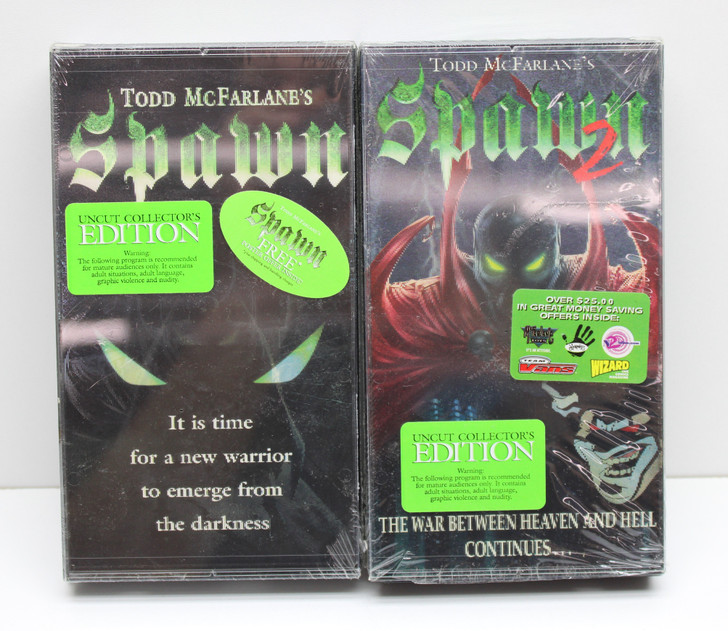 SPAWN (McFarlane Animated Series) Vintage VCR Video Cassette Tape set of 2
