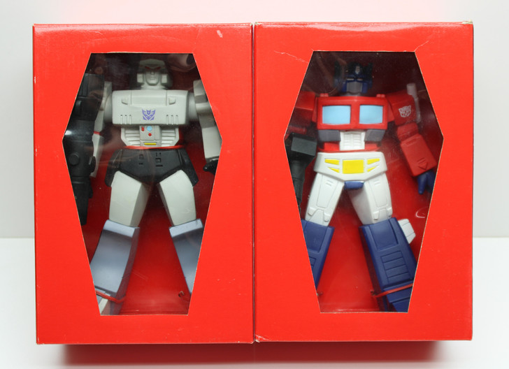 Transformers Optimus Prime and Megatron vinyl figure set