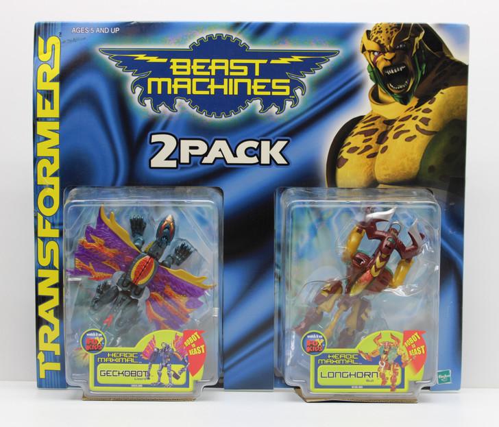 Hasbro Transformers Beast Machines Geckobot and Longhorn 2 pack
