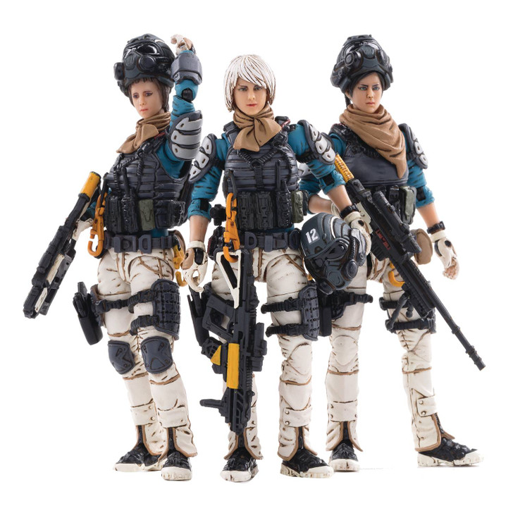 Joy Toy Starhawk 7th Army Blackhawk Fleet 1/18 action figure 3 pack