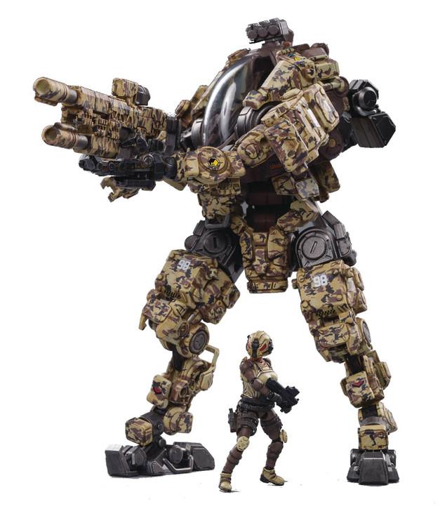 Joy Toy White Steel Bone H03 Sniper Desert Camo Armor Mecha 1/18th Scale Action Figure
