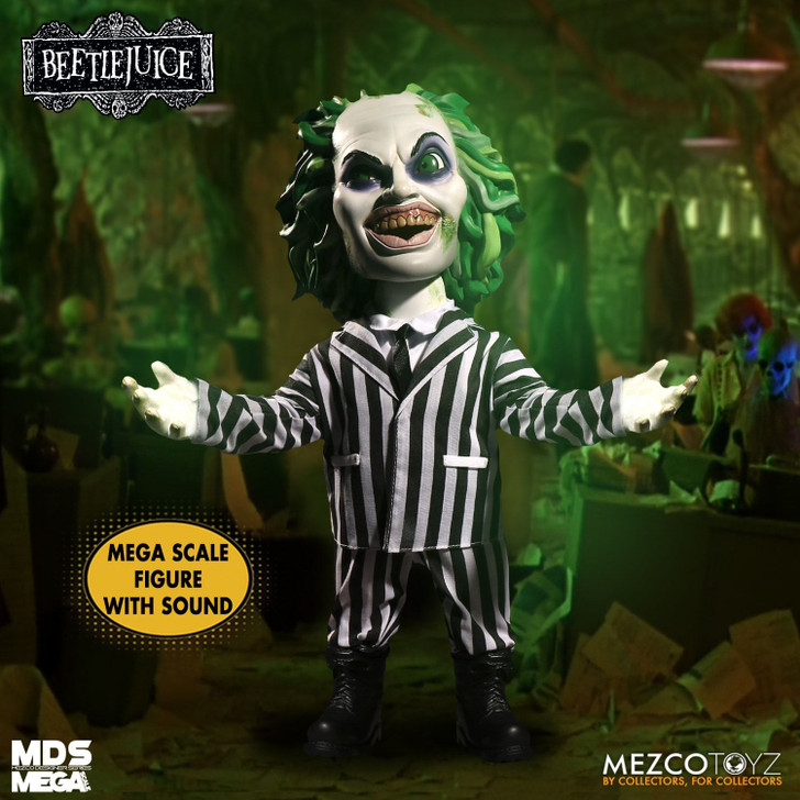 "Mezco Mega Scale 15"" Beetlejuice  (Talking version)"