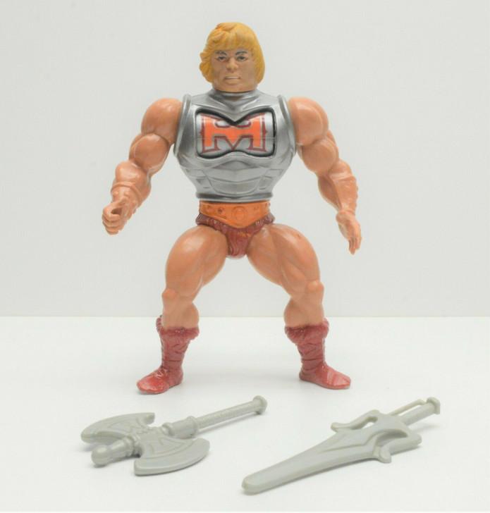 Mattel (1984) MOTU Battle Armor He-Man Mexico/Taiwan markings (No package)