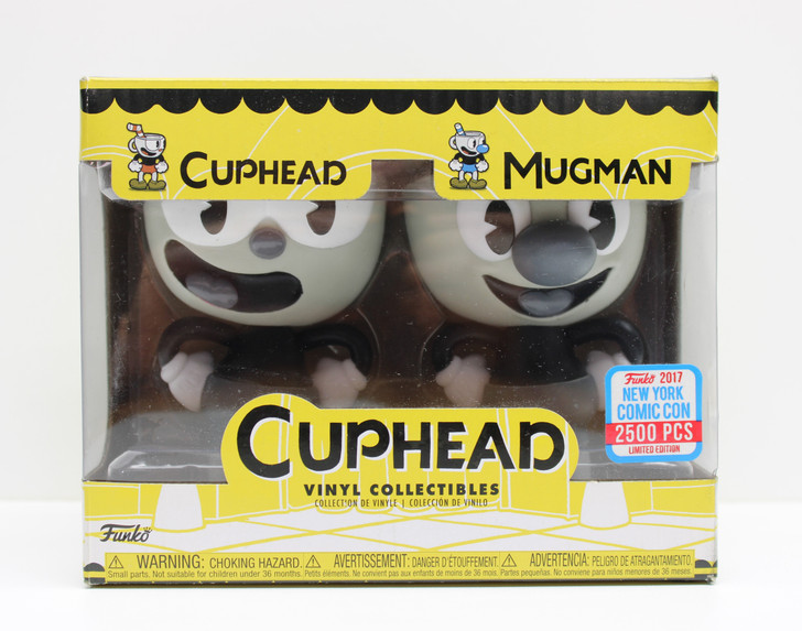 Funko NYCC 2017 Exclusive Cuphead and Mugman vinyl collectibles