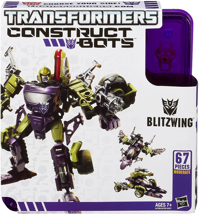Hasbro Transformers Construct-Bots Triple Changers Blitzwing Buildable Action Figure