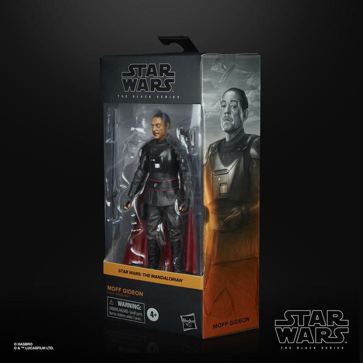 "Hasbro Star Wars The Black Series Moff Gideon 6"" action figure"