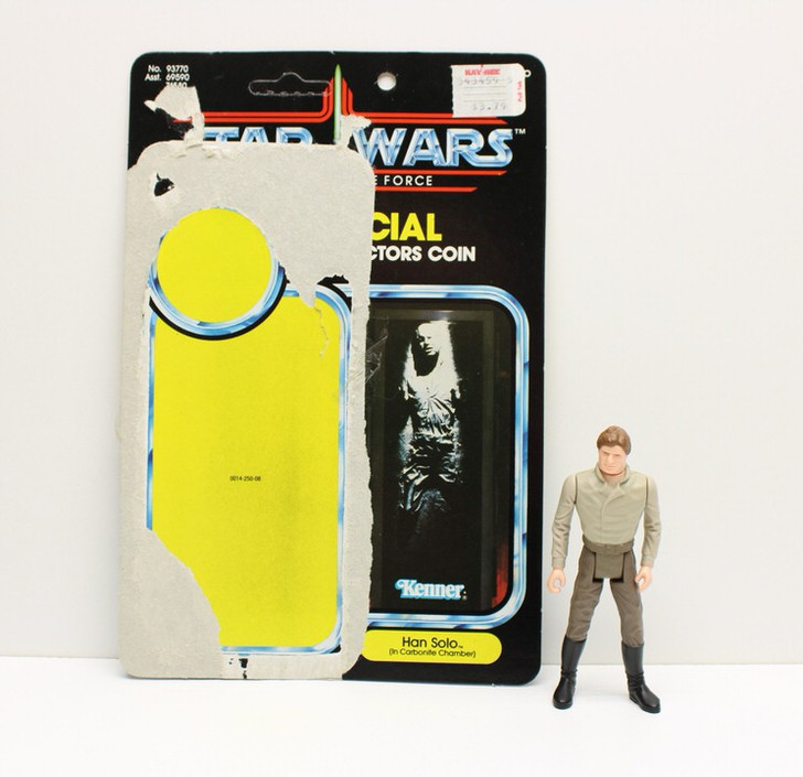 Kenner 1984 Star Wars Power of the Force Han Solo Carbonite Chamber action figure