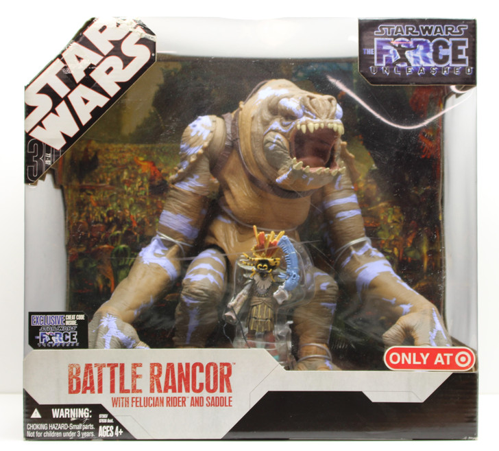 Hasbro Star Wars Force Unleashed Battle Rancor with Felucian Rider