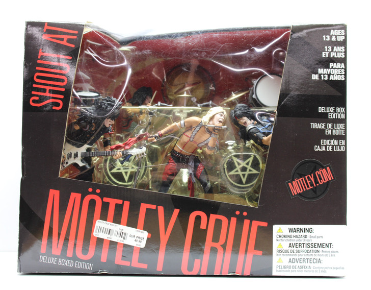 """McFarlane (2004) Motley Crue """"Shout at the Devil"""" Super Stage Deluxe Boxed Edition"""