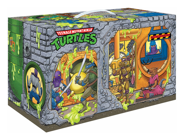 Playmates TMNT Retro Rotocast Sewer Lair Action Figures Limited Edition Box Set