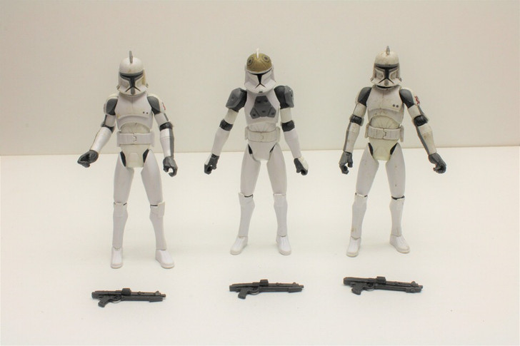 Hasbro Star Wars Clone Wars Animated Series Clone Trooper  Action Figure lot (no package)