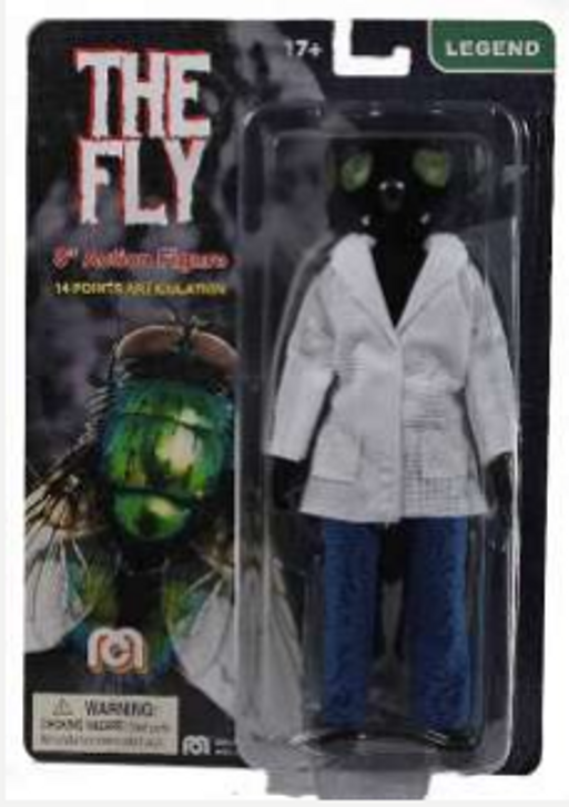 "Mego Action Figure 8"" The Fly FLOCKED VERSION"