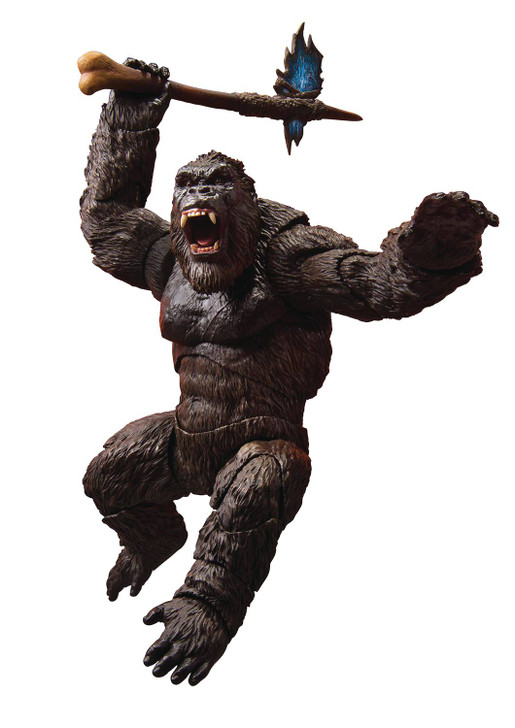 "Bandai S.H. MonsterArts ""Godzilla vs. Kong"" Kong Action Figure"