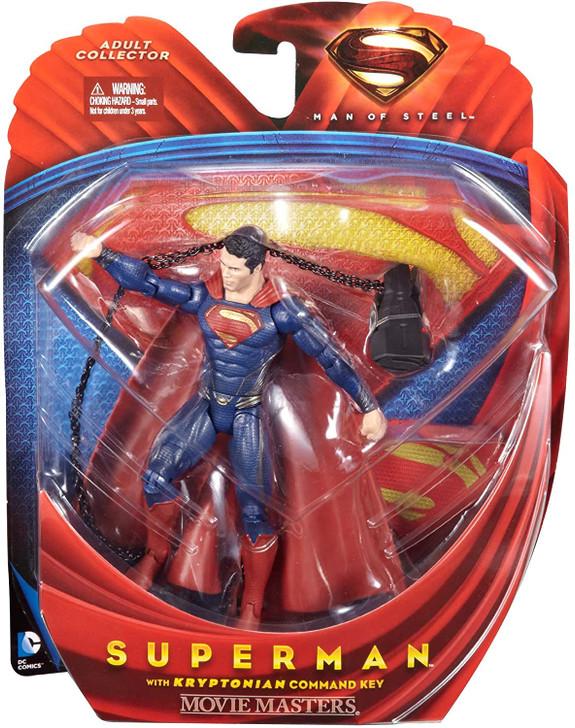 Mattel Superman Man of Steel Movie Masters Action Figure with Kryptonian Command Key