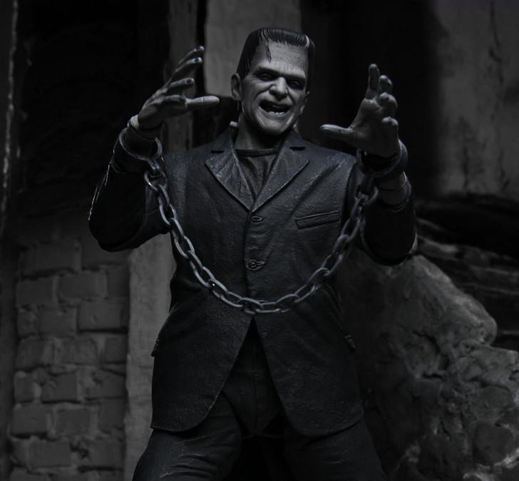 "NECA Universal Monsters - 7"" Scale Action Figure - Ultimate Frankenstein's Monster (Black & White)"
